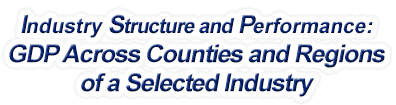 Maryland - Gross Domestic Product Across Counties and Regions of a Selected Industry